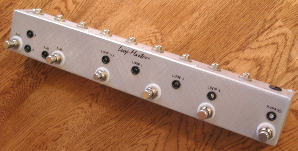 custom true bypass loopers - loop-master pedals -