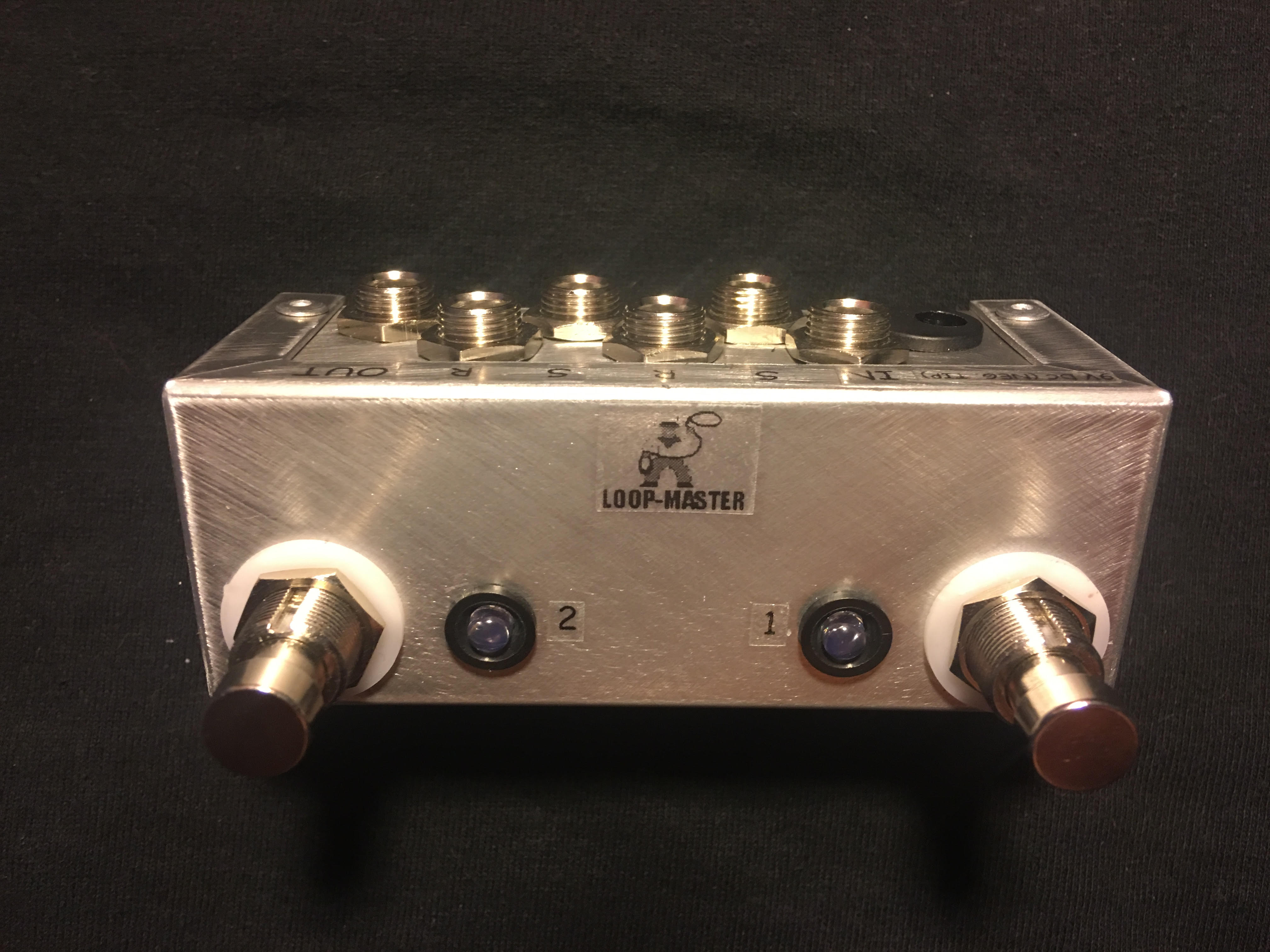 Ab Box Pedals Loop Master Custom Mini A B Led Version Wooden Guitar Amp Switch Wiring Your 2 Skinny Micro